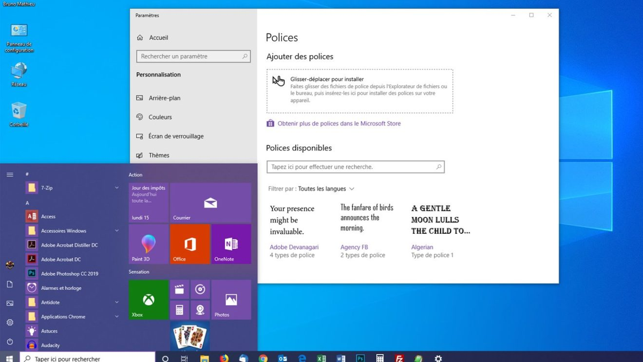 Image 1 : Les nouveautés de la May 2019 Update de Windows 10