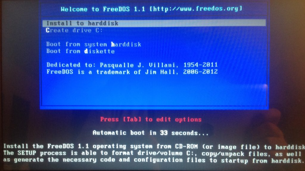FreeDOS - Installation - 10 systèmes d'exploitation