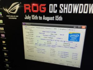 Image 1 : Record sur Haswell : presque 7,2 GHz