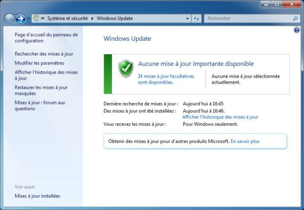Image 1 : KB3004394, la mise à jour de Windows 7 à ne pas faire