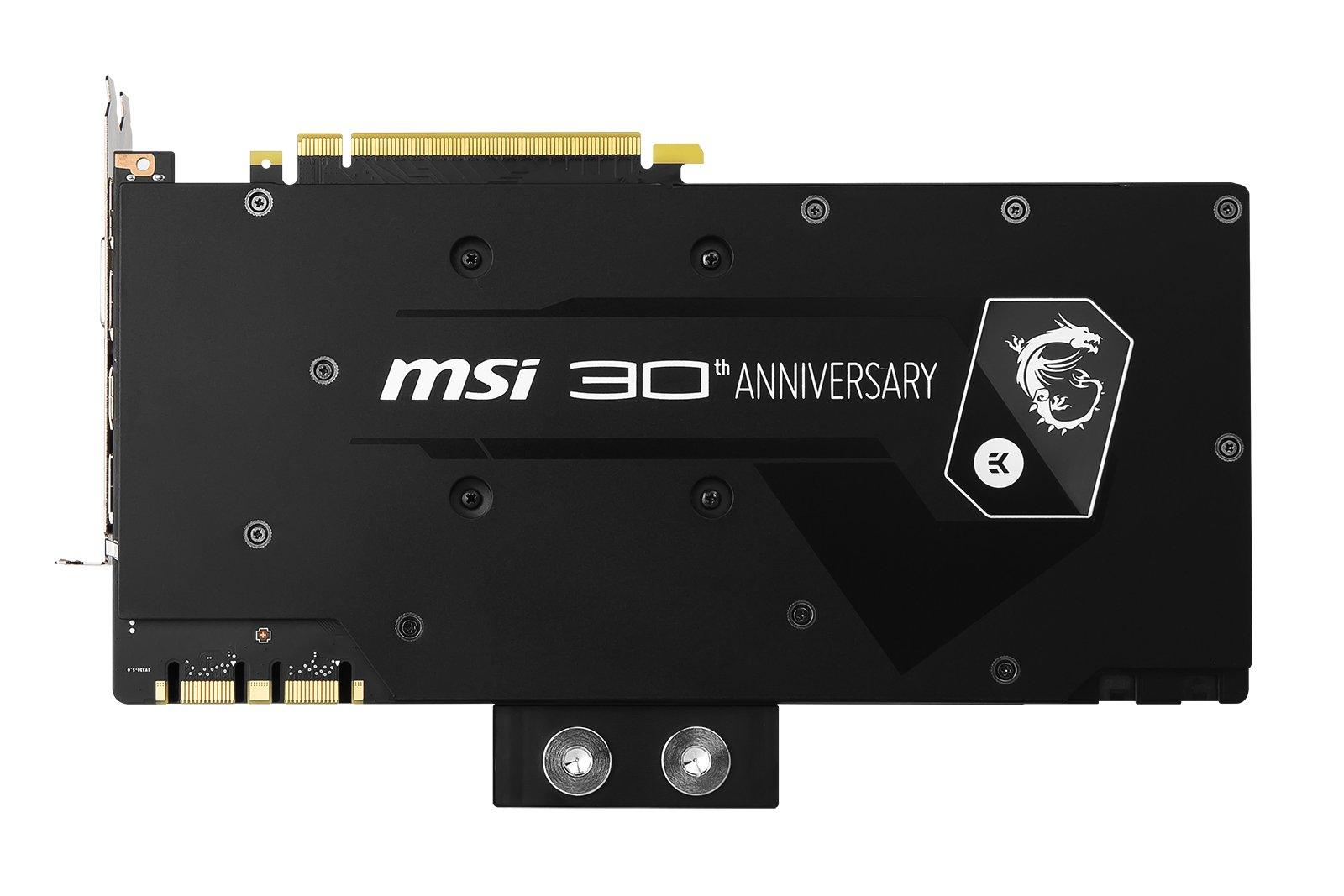 Image 2 : MSI GTX 1080 30th Anniversary : une GeForce collector sous watercooling EKWB