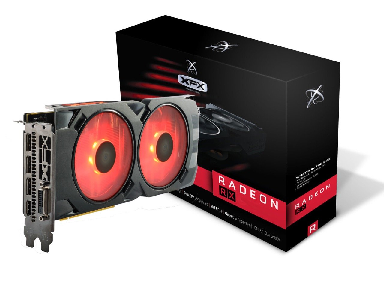 Image 1 : XFX Radeon RX 480 Crimson Edition : LED rouges et ventilateurs modulaires