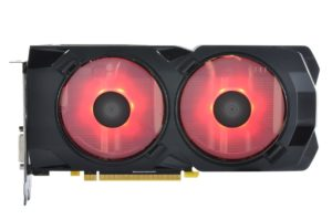Image 8 : XFX Radeon RX 480 Crimson Edition : LED rouges et ventilateurs modulaires