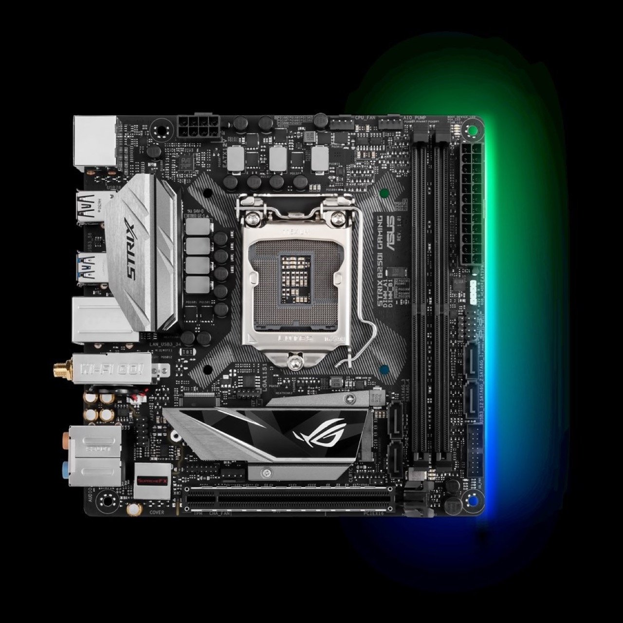 Image 1 : Asus B250I : carte Mini-ITX pour gamers frugaux