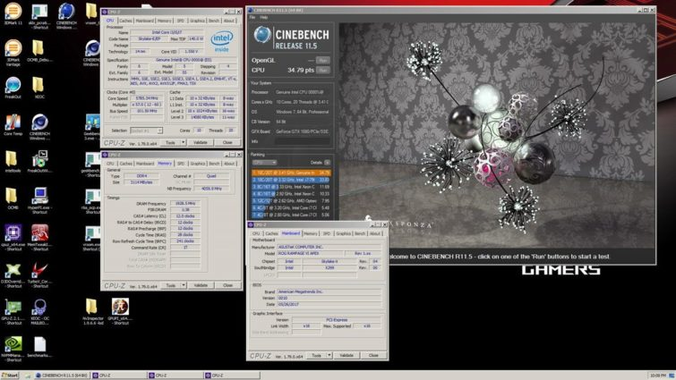 Image 1 : Computex : record d'overclocking sur Core i9-7900X, 5,8 GHz !