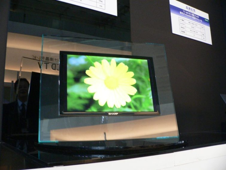 Image 1 : Sharp annonce officiellement la production de dalles OLED