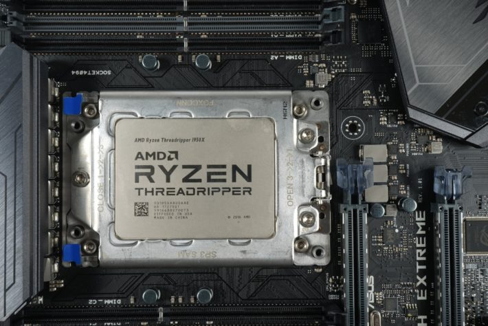 Image 1 : Test : AMD Threadripper 1950X, 32 threads et 320 W après overclocking !