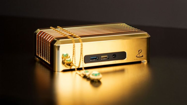 Image 1 : Un million de dollars pour ce mini PC passif en or 18 carats
