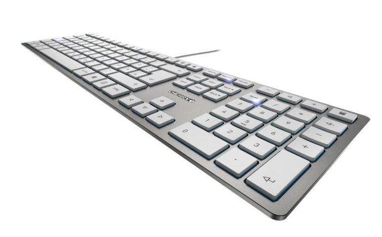 Image 1 : Cherry KC 600 SLIM : clavier ultra-fin, touches chiclet