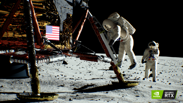 Image 3 : Tom's TV : NVIDIA arme sa démo Moon Landing avec du ray tracing