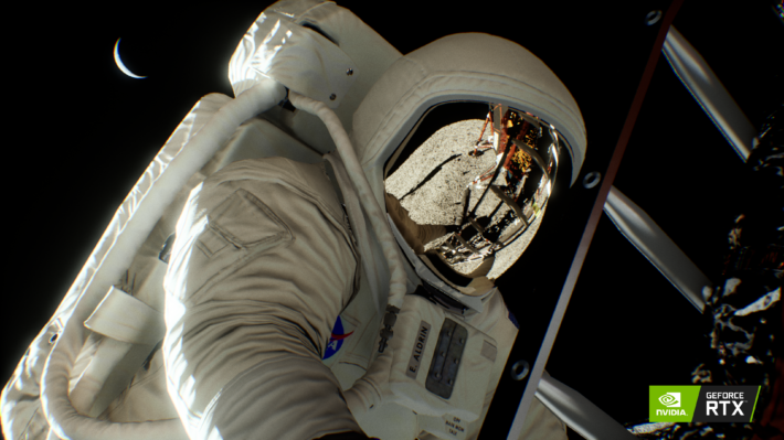 Image 1 : Tom's TV : NVIDIA arme sa démo Moon Landing avec du ray tracing