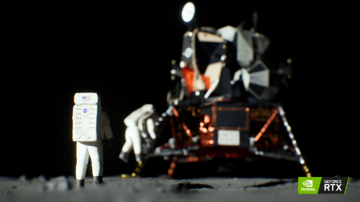 Image 2 : Tom's TV : NVIDIA arme sa démo Moon Landing avec du ray tracing