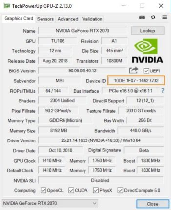 Image 3 : GeForce RTX : flash de BIOS impossible entre GPU 'A' et non 'A'