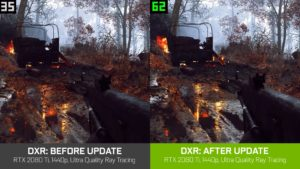 Image 1 : Performances ray tracing boostée dans Battlefield V, invention du 'VRRT'