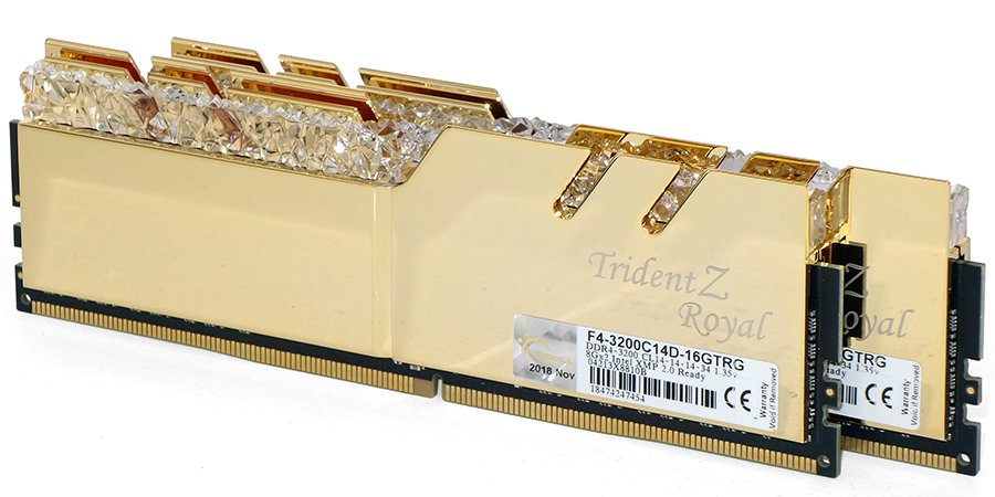Image 3 : Test : DRAM G.Skill Trident Royal DDR4-3200 CL14, bling, luxe et performances