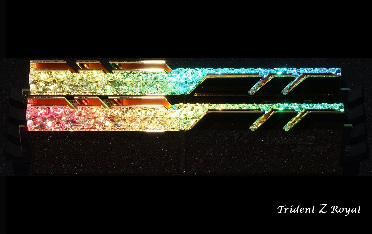 Image 5 : Test : DRAM G.Skill Trident Royal DDR4-3200 CL14, bling, luxe et performances