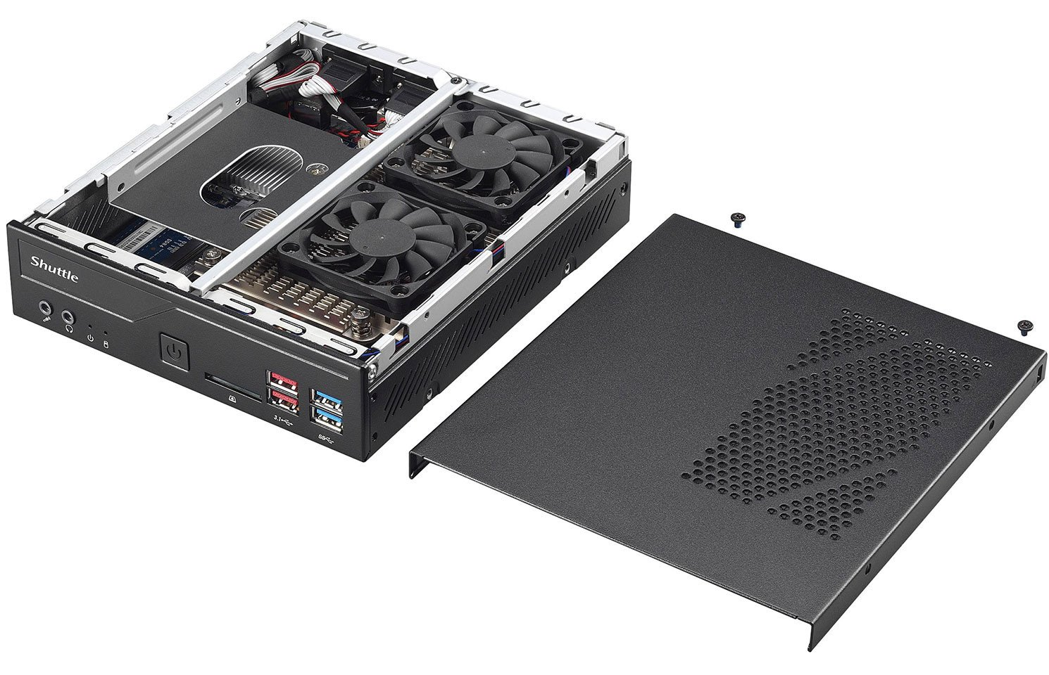 Image 3 : Le mini PC Shuttle XPC DH370 passe aux CPU Intel 8e Gen
