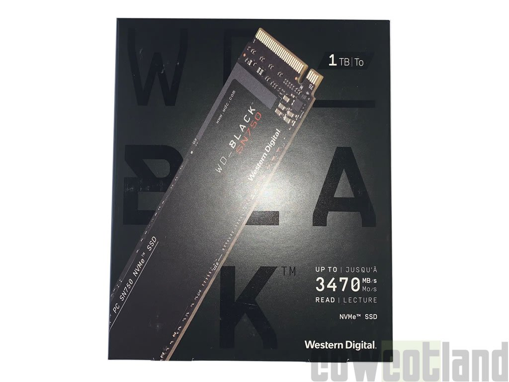 Image 1 : Test du SSD WB Black SN750 1 To signé Western Digital, en NVMe