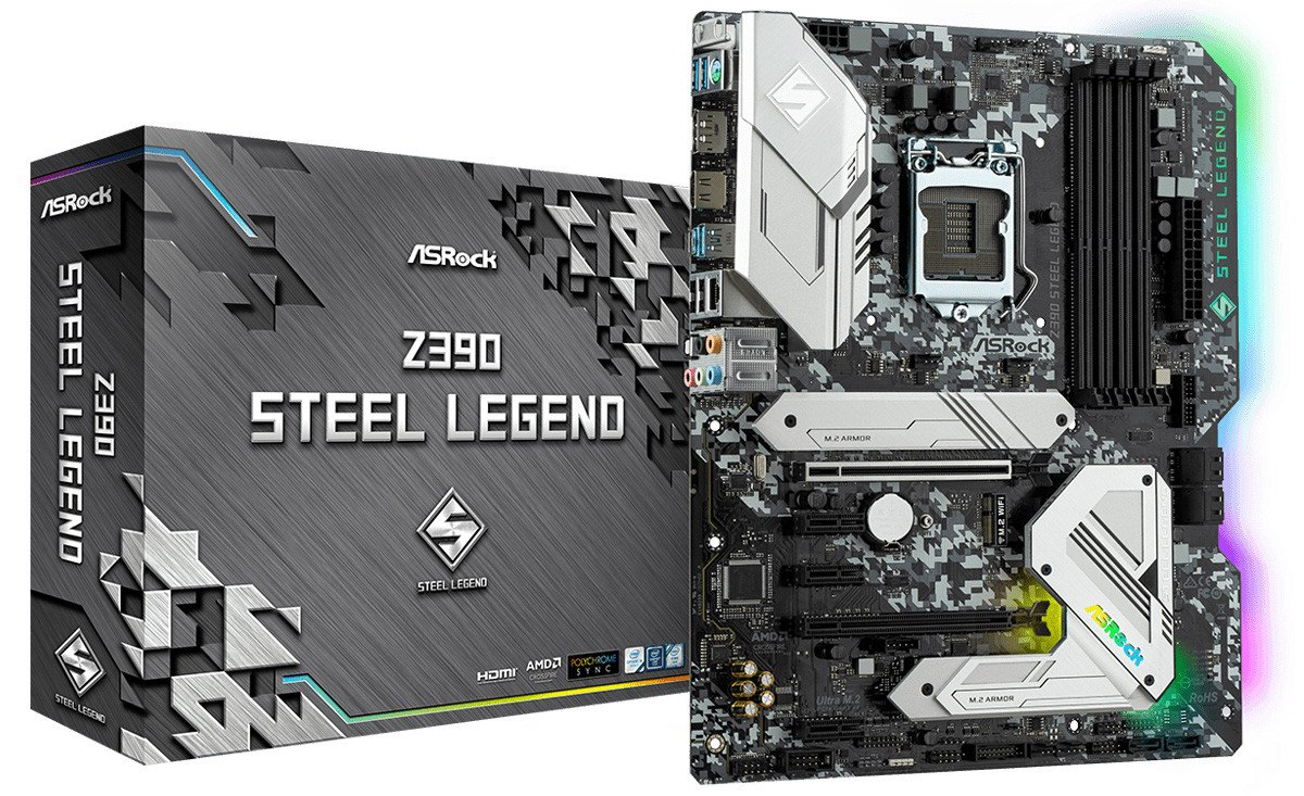Image 1 : ASRock sort une carte mère Steel Legend en Z390