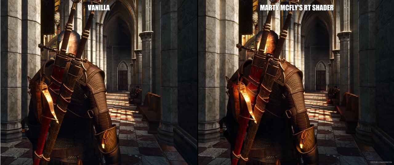 Image 1 : Vidéo : au tour de The Witcher 3 de s'essayer à l'illumination path tracing !