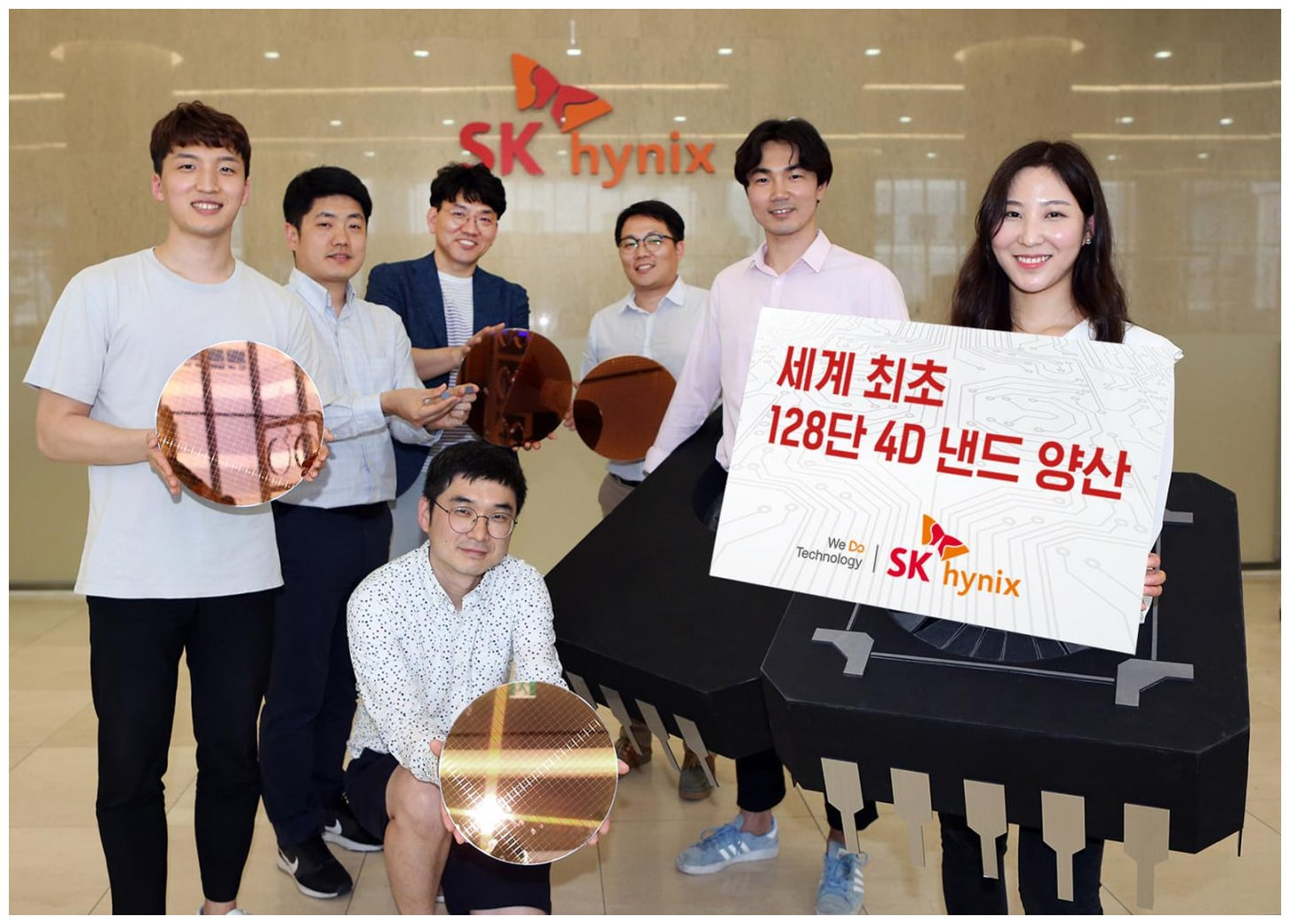 Image 2 : SK Hynix lance la production massive de sa mémoire flash NAND 4D à 128 couches