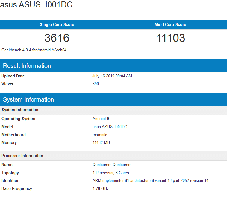 Image 1 : Le Snapdragon 855 Plus se montre sur Geekbench