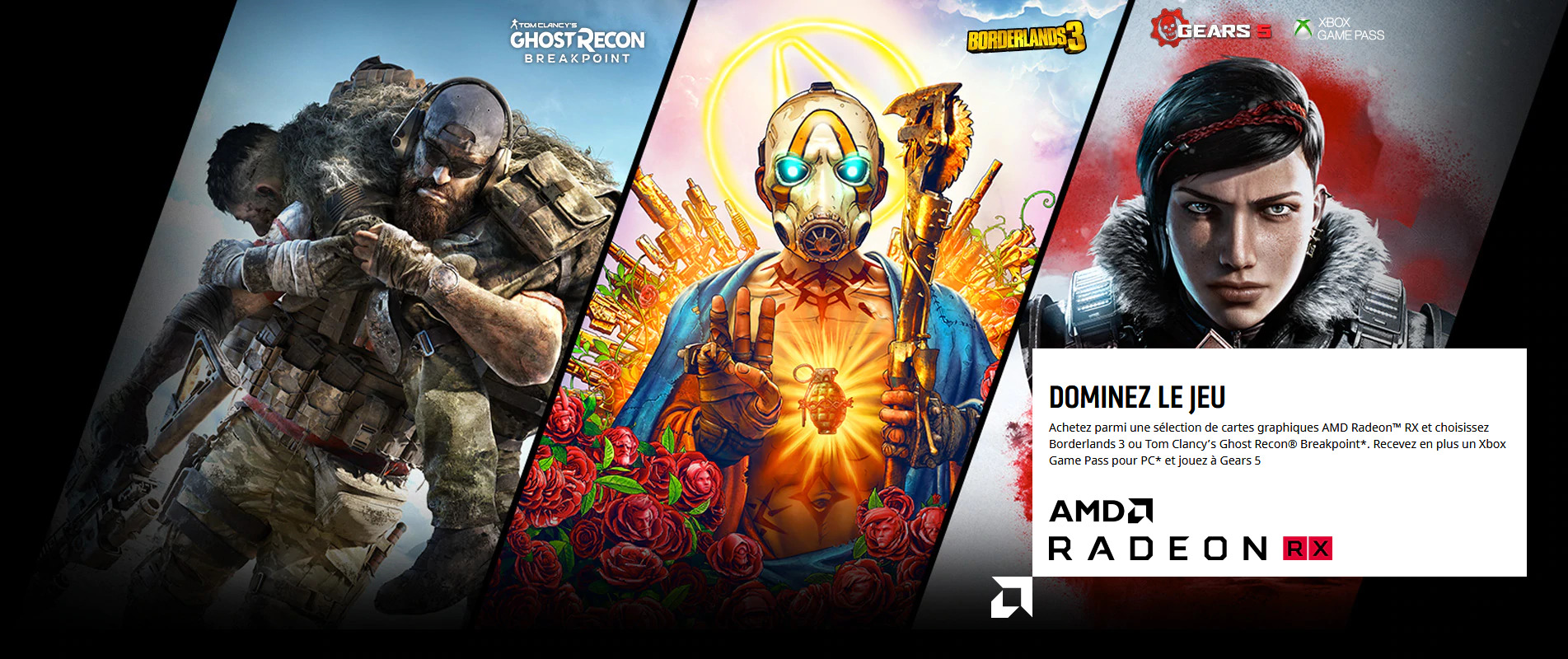 Image 1 : Bundle : AMD offre Borderlands 3, Outer Worlds et Ghost Recon : Breakpoint