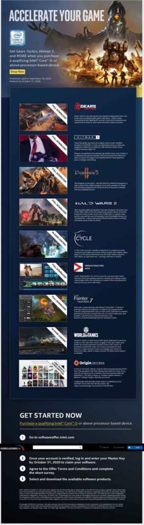Image 2 : Intel prépare le bundle 'Accelerate Your Game' avec notamment Halo Wars 2 et Gears Tactics
