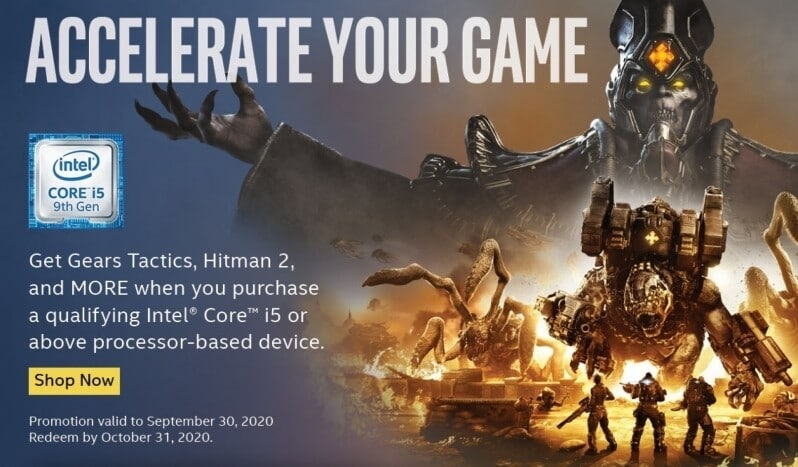 Image 1 : Intel prépare le bundle 'Accelerate Your Game' avec notamment Halo Wars 2 et Gears Tactics