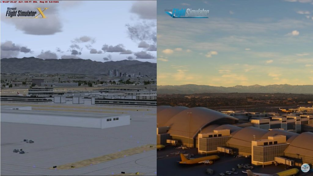 Image 1 : Flight Simulator 2020 comparé à Flight Simulator X en vidéo