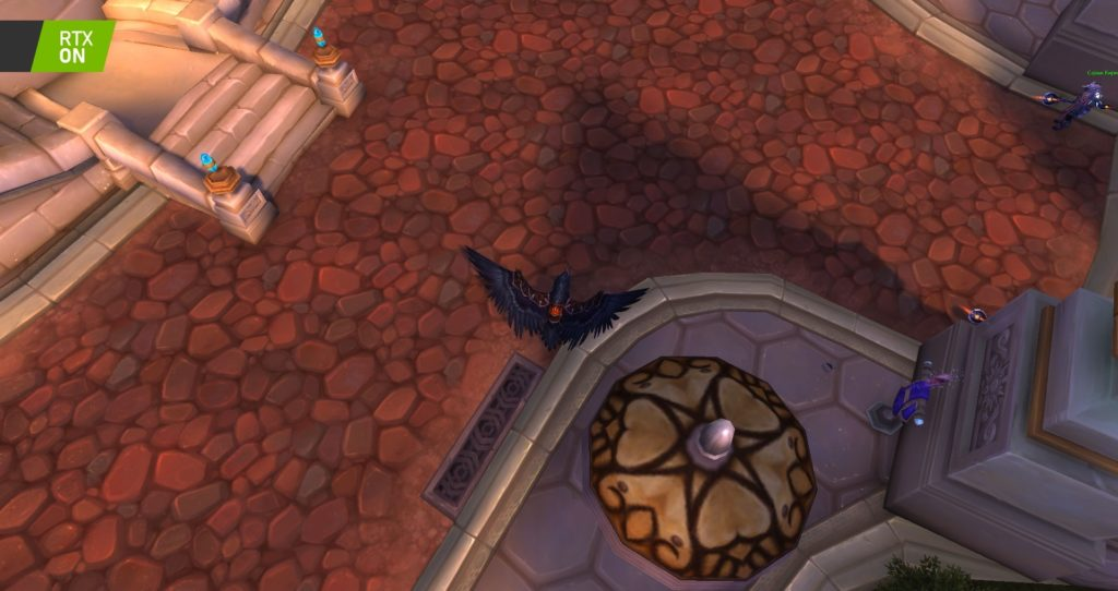 Image 2 : Comparaison RTX On / Off sur World of Warcraft Shadowlands