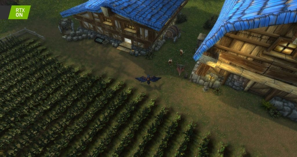 Image 10 : Comparaison RTX On / Off sur World of Warcraft Shadowlands