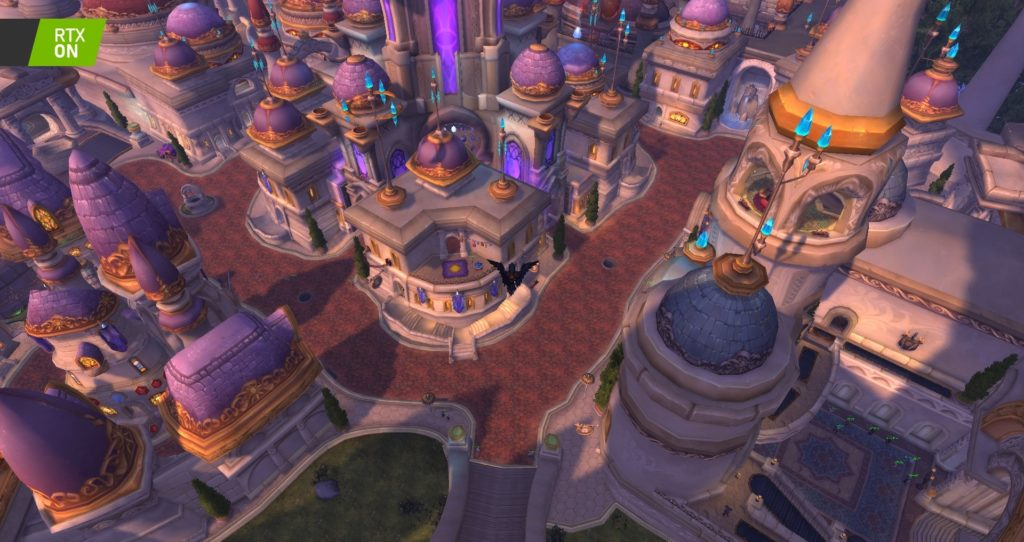 Image 4 : Comparaison RTX On / Off sur World of Warcraft Shadowlands