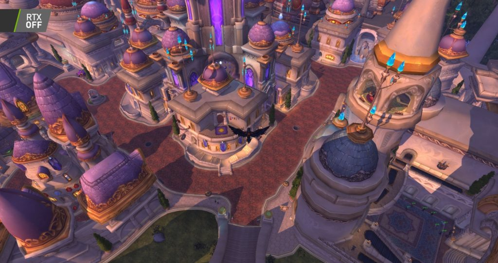 Image 3 : Comparaison RTX On / Off sur World of Warcraft Shadowlands