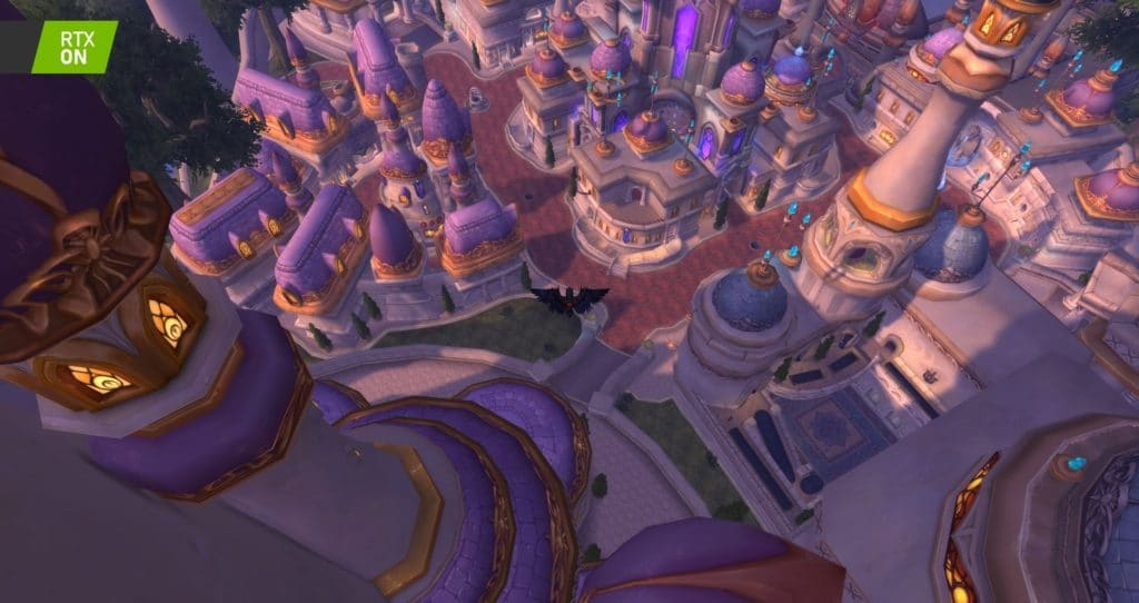 Image 8 : Comparaison RTX On / Off sur World of Warcraft Shadowlands