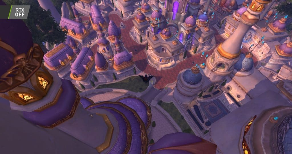 Image 7 : Comparaison RTX On / Off sur World of Warcraft Shadowlands