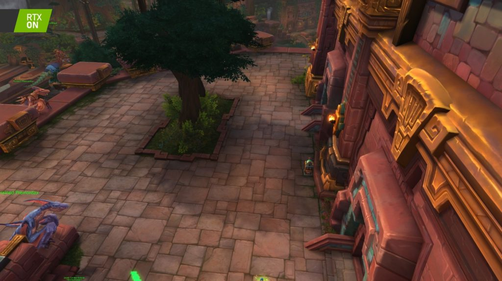Image 6 : Comparaison RTX On / Off sur World of Warcraft Shadowlands