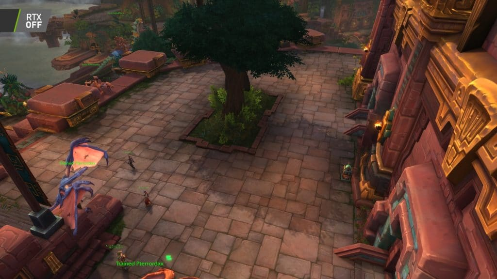 Image 5 : Comparaison RTX On / Off sur World of Warcraft Shadowlands