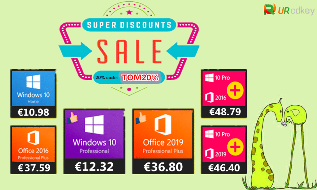 Image 1 : La licence de Windows 10 Home est en promotion à 10,98€ chez URcdkey