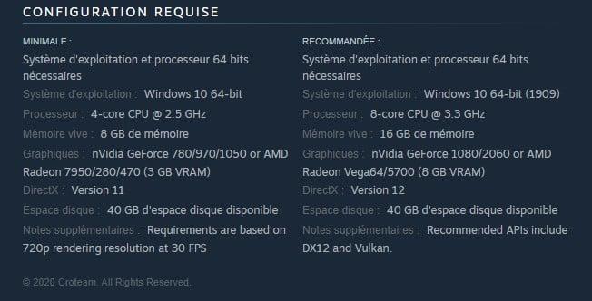 Image 2 : Serious Sam 4 dévoile ses configurations minimale et recommandée