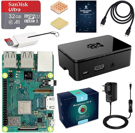 Image 1 : Amazon Prime Day : pack Raspberry Pi 3 Modèle (3B+) Starter Kit à 56,43€