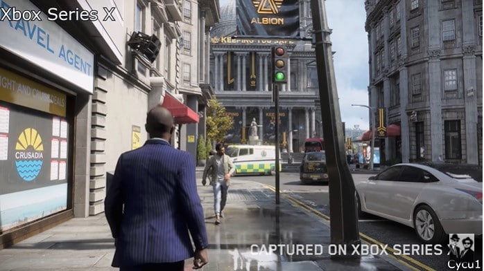 Image 1 : Watch Dogs Legion : le ray tracing de la version Xbox Series X comparé à celui de la version PC